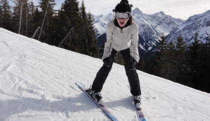 Première matinée de ski