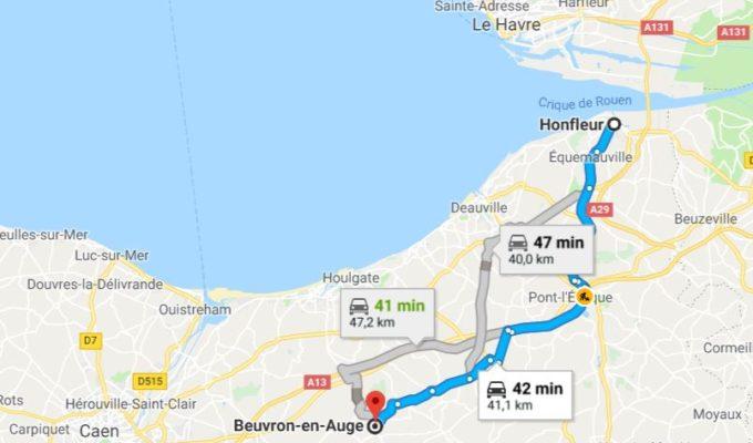 map honfleur beuvron